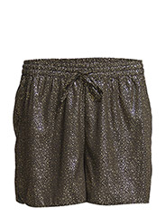PCTULIP SHORTS EXP/METALLIC PRINT - Black