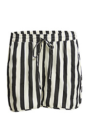 PCTULIP SHORTS EXP/STRIPE - Bright White