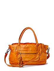 PCMORE LEATHER BAG NOOS - Cognac