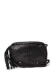 PCMORE LEATHER CROSS OVER BAG NOOS - Black