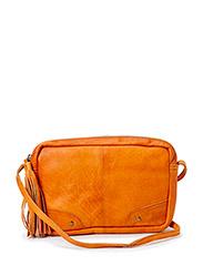 PCMORE LEATHER CROSS OVER BAG NOOS - Cognac