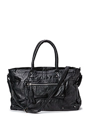 PCMORE LEATHER TRAVEL BAG NOOS - Black