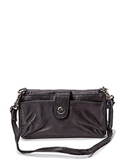 PCNICOLE MOBILE LEATHER CROSS OVER BAG - Black
