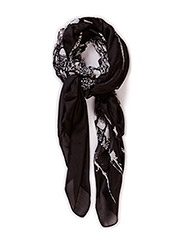 PCFEATHER LONG SCARF - Black