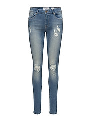 Diva skinny distressed wash Leon - DENIM BLUE 65