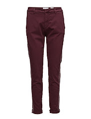 Jamilla chino color - BURGUNDY
