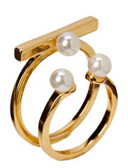 Pilgrim Ring Brimming with pearls - white