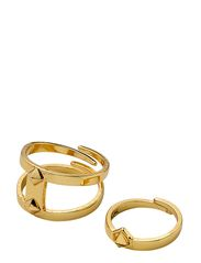 PILGRIM Tiny Rivet ring - gold