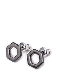 Pilgrim Earring Cubes - Grey