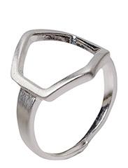 Pilgrim Ring Cubes - Silver