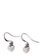 Pilgrim Earring Shimmer Heart - crystal