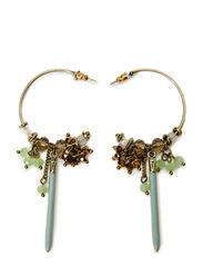Earrings - dark brass