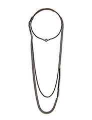 Pilgrim Necklace Black Stillness - Black