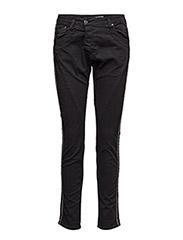 Fine Flap Stripe Side - BLACK