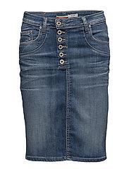 Skirt Long New Usual Denim - BLUE