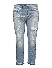 Please Jeans - 6b Capri Trash Denim