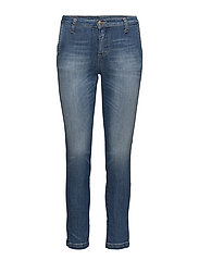 CHINO FILETTO ROMA - 5001 BLU DENIM