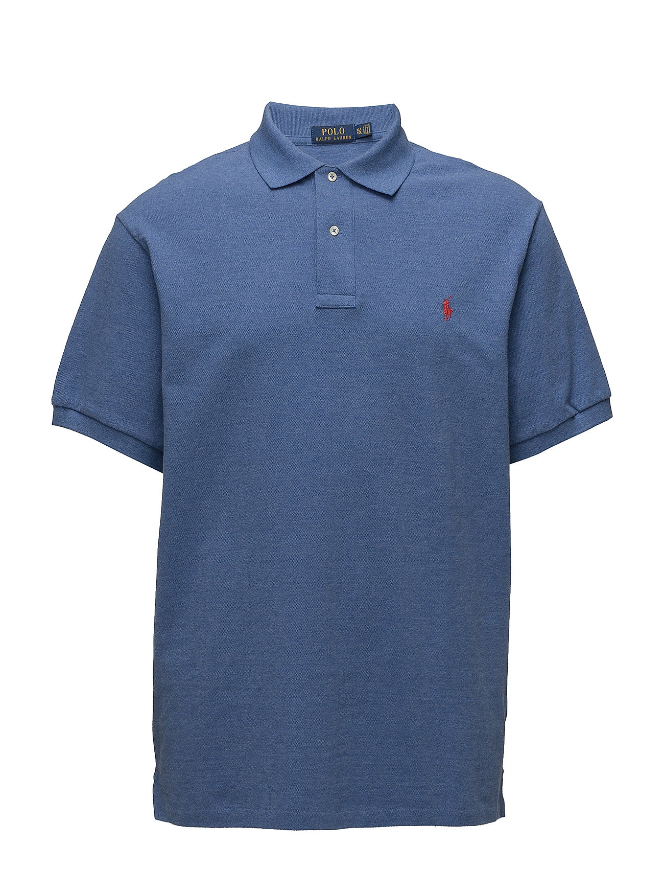 Classic fit mesh polo shirt deco blue heather for Tall ralph lauren polo shirts