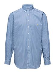 STRIPED POPLIN SPORT SHIRT - 701 BLUE/WHITE