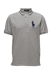 CLASSIC FIT COTTON MESH POLO - ANDOVER HEATHER