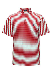 CLASSIC FIT COTTON JERSEY POLO - SUNRISE RED/WHI