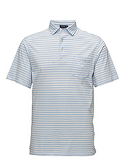 CLASSIC FIT COTTON JERSEY POLO - ELITE BLUE/WHIT