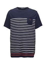 Classic Fit Cotton T-Shirt - NEWPORT NAVY MULT
