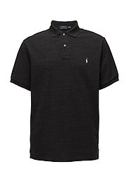 Classic Fit Mesh Polo Shirt - BLACK MARL HEATHE