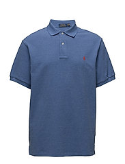 Classic Fit Mesh Polo Shirt - DECO BLUE HEATHER