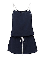 ICONIC TERRY COVERS ROPE DRESS - RIVIERA NAVY
