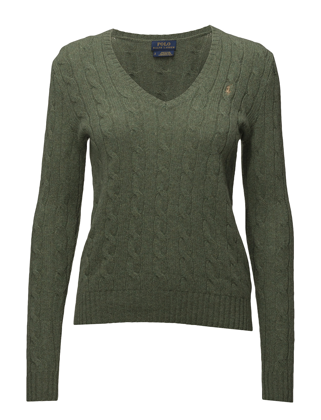 Wool-blend Cable-knit Sweater (Lovette Heather) (£83.30) - Polo ...