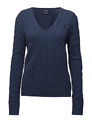 Wool-Blend Cable-Knit Sweater - SHALE BLUE HEATHE
