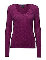 Wool-Blend Cable-Knit Sweater - VIBRANT PINK HEAT