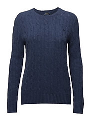 Wool-Cashmere Crewneck Sweater - SHALE BLUE HEATHE