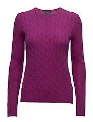 Wool-Cashmere Crewneck Sweater - VIBRANT PINK HEAT