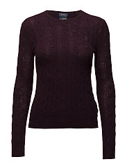 Wool-Cashmere Crewneck Sweater - AGED WINE