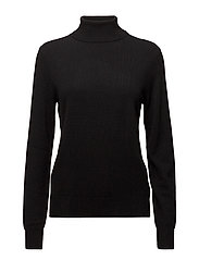 CASHMERE JERSEY-LSL-SWT - POLO BLACK