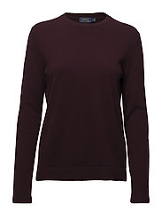 Cashmere Long-Sleeve Knit - AGED WINE