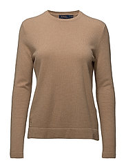 Cashmere Long-Sleeve Knit - CAMEL MELANGE