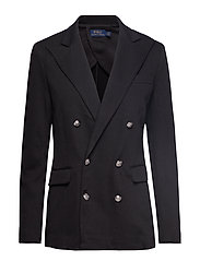 Knit Double-Breasted Blazer - POLO BLACK