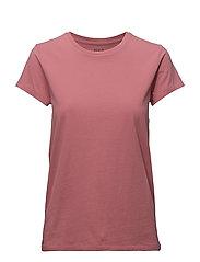Cotton Crewneck T-Shirt - SUN RED