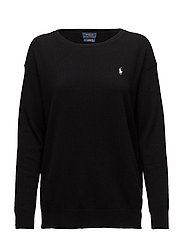 Crewneck Merino Sweater - POLO BLACK