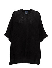 Poncho Knot Tie Sweater - POLO BLACK