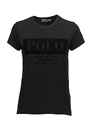 Cotton Jersey Logo T-Shirt - POLO BLACK
