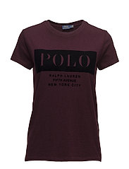 Cotton Jersey Logo T-Shirt - AUTUMN WINE