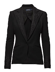 Stretch Wool Blazer - POLO BLACK