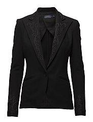 Stretch Wool Blazer - POLO BLACK