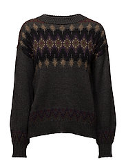 WOOL BLEND-LSL-SWT - GREY MULTI