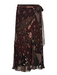 Bohemian Floral Maxi Skirt - FALL FLORAL PATCH