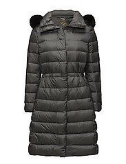 Quilted Hooded Down Coat - MAGNUM GREY